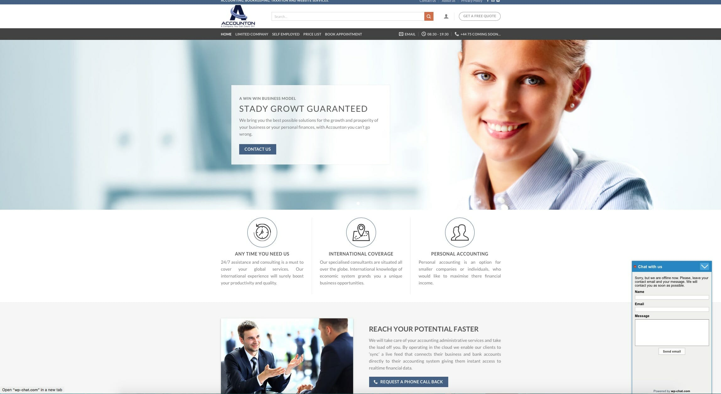 Bookkeeper Website Design