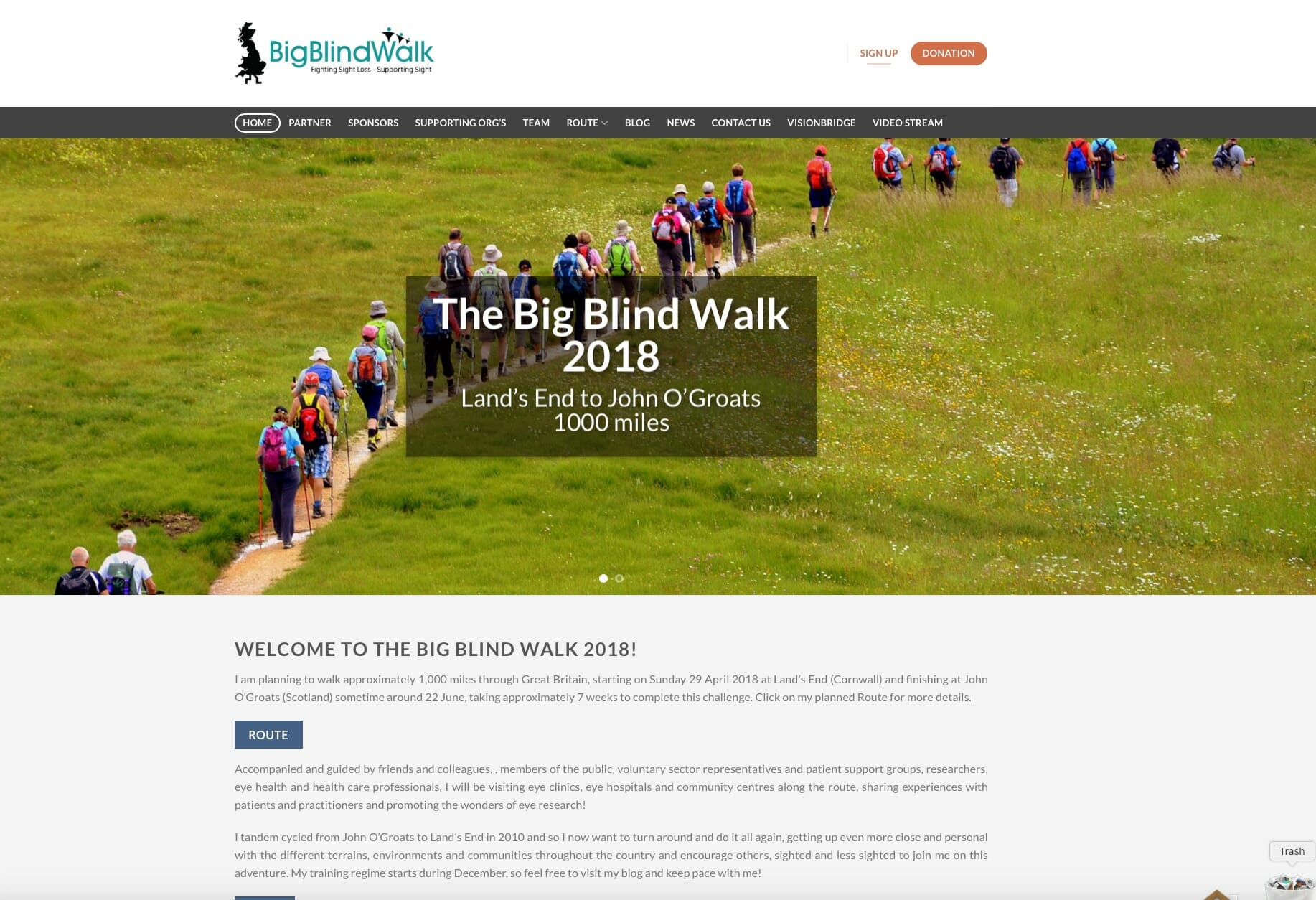 Charity Blog Website Design