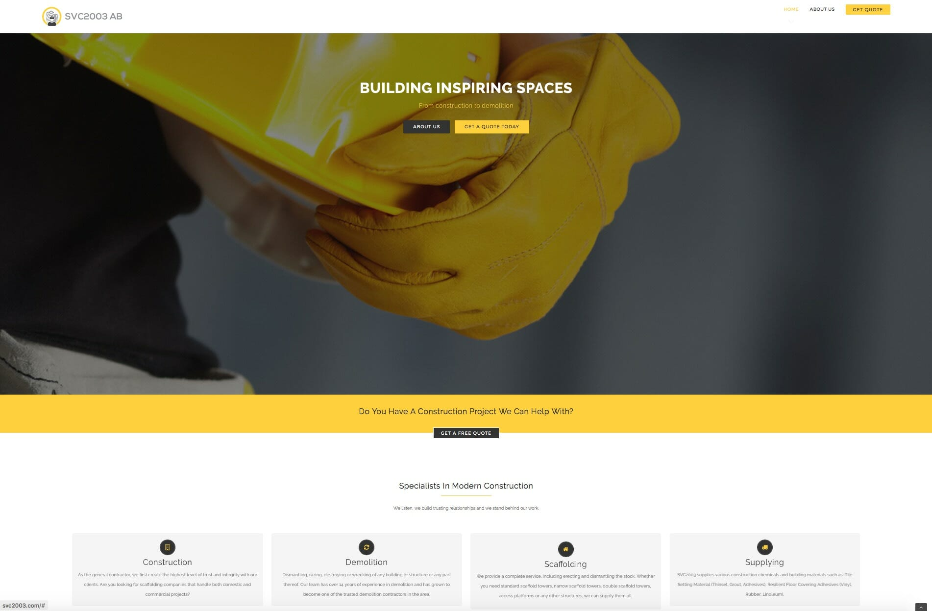 Building and Construction Service Website